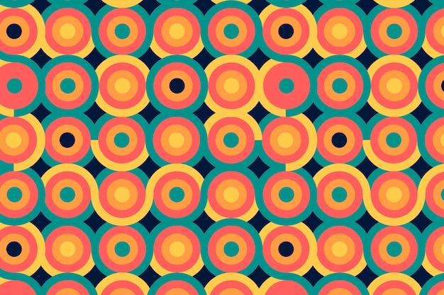 幾何学的な円形のグルーヴィーなシームレスパターン