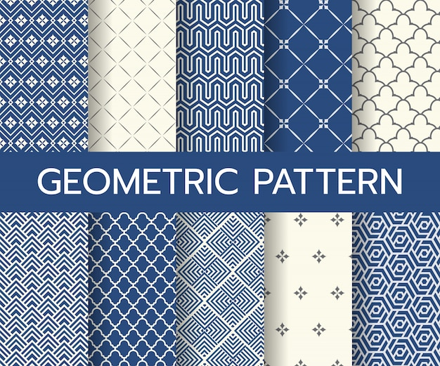 Geometric classic patterns