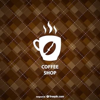 Geometric coffee shop background