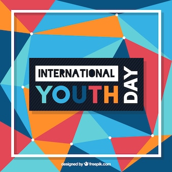 Geometric colored background of youth day