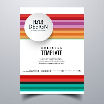 Geometric colorful brochure with full color lines