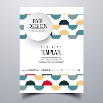 Geometric colorful brochure with semi circles