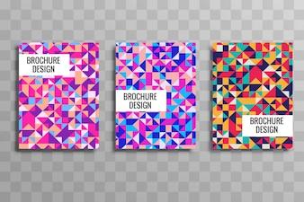 Geometric colorful buisness brochure template vector
