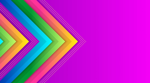 Geometric colorful gradient background template
