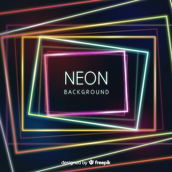 Geometric colorful neon shapes background