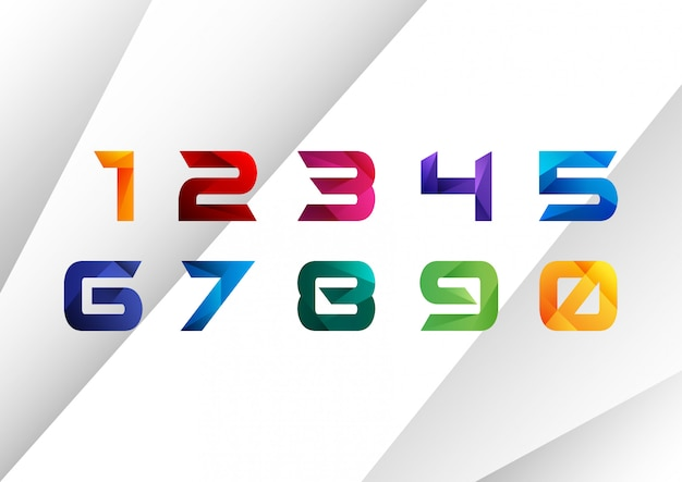 Geometric colorful number collection