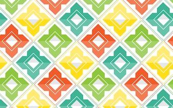 幾何学的なカラフルなパターンベクトル抽象的なデザイン。