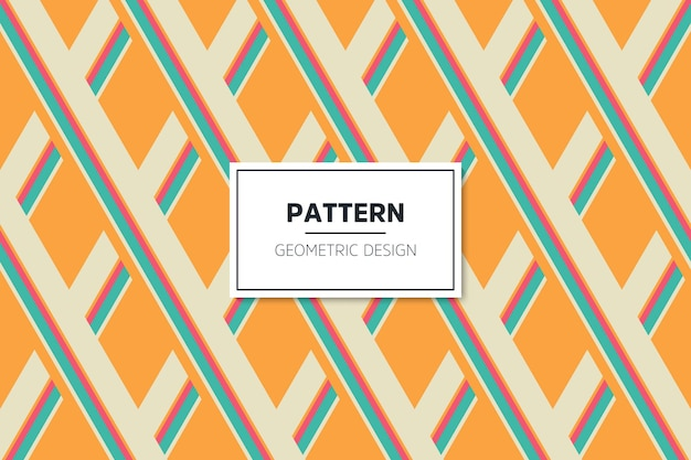 幾何学的なカラフルなシームレスな線形パターン