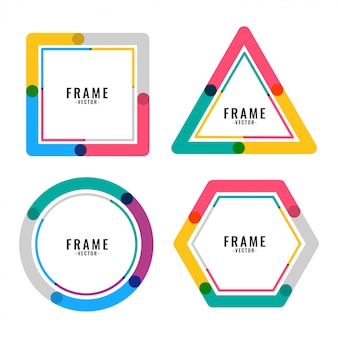 Geometric colors lines frame design