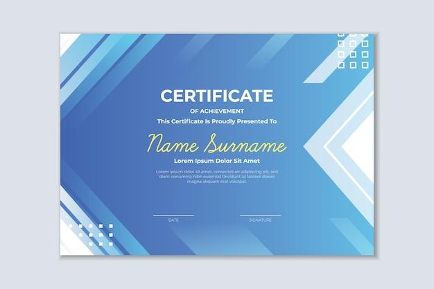 Геометрический красочный шаблон сертификата