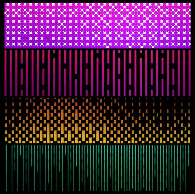 Geometric colroful pattern banners set vector
