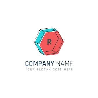 幾何学的な会社のロゴ