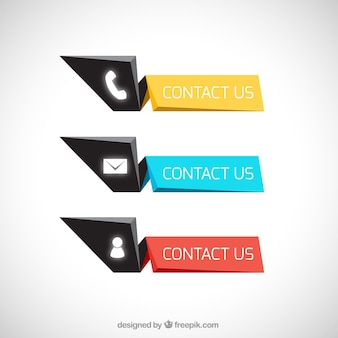 Geometric contact buttons