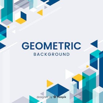 Geometric corners background