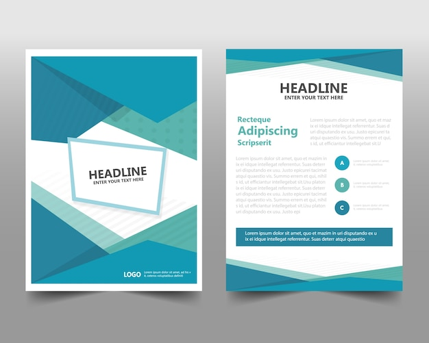 Geometric corporate book cover concept