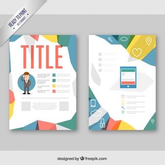 Геометрическая корпоративного брошюра