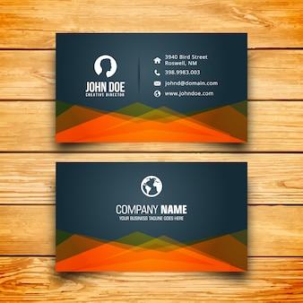 Geometric corporate business card