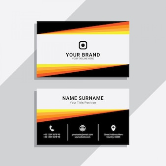 Geometric corporate business card