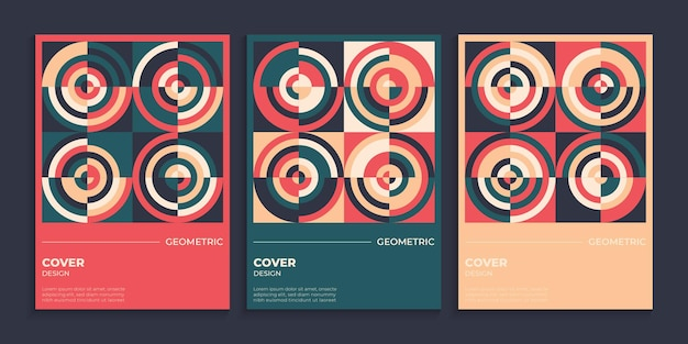 Geometric cover background in retro style