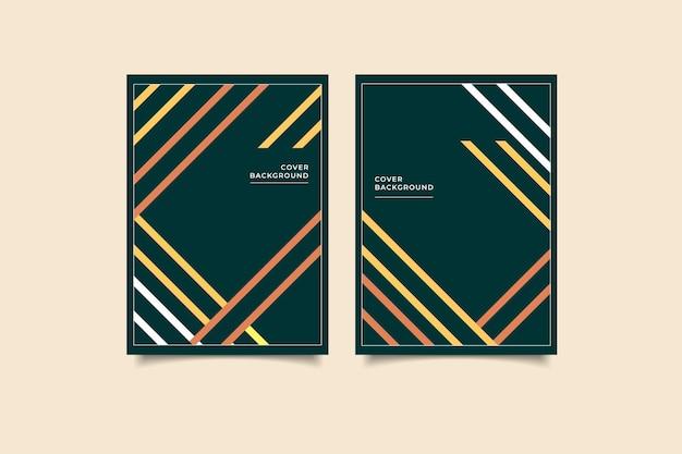 Геометрический дизайн обложки минималистский