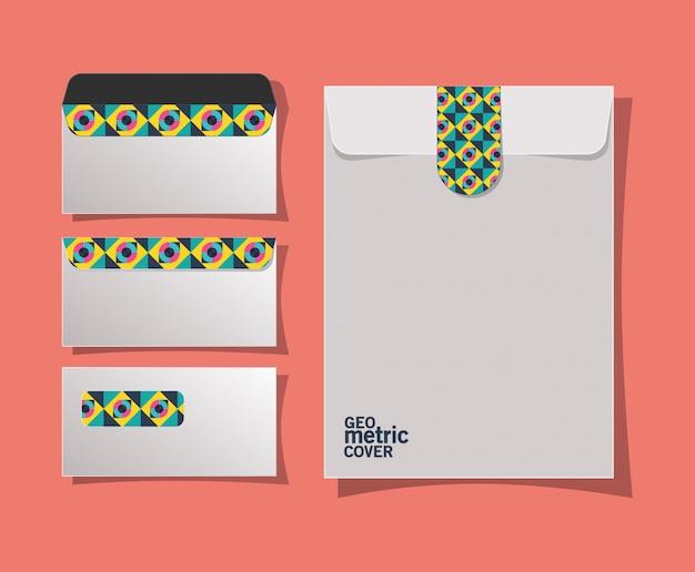Геометрические обложки конвертов