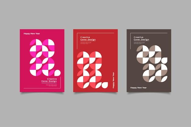 幾何学的なカバーのミニマリストデザイン2022