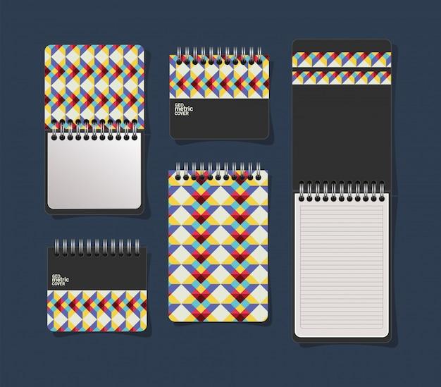 Геометрическая обложка тетрадей