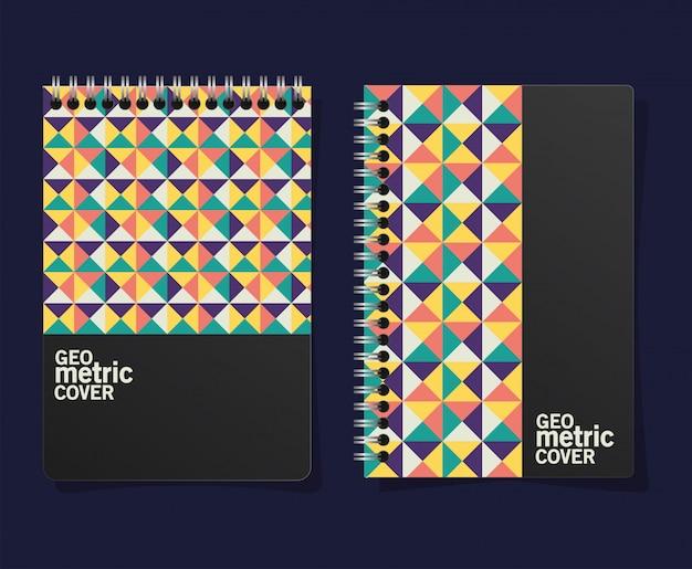 Geometric cover notebooks