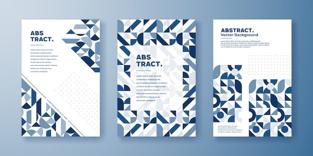 Geometric cover with abstract shape composition.