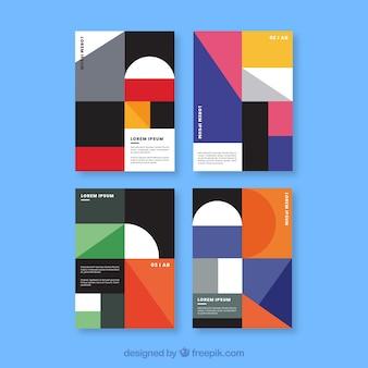 幾何学的な色のコレクションをカバー