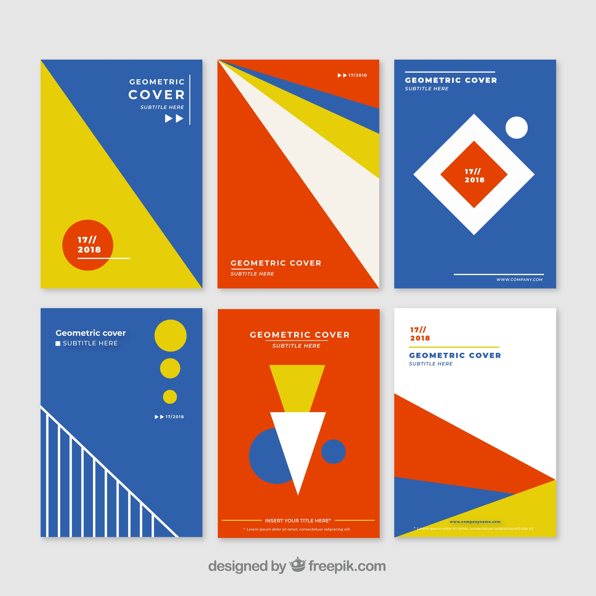 Geometric covers collection with colors