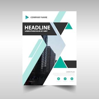 Geometric creative annual report template