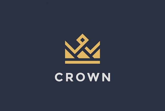 Geometric crown logo  icon.