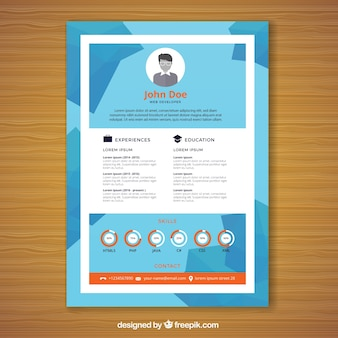 Geometric curriculum template with graphics