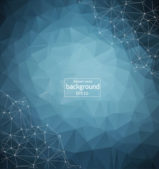 Geometric Dark Blue Polygonal background