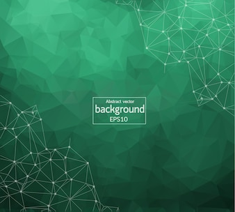 Geometric Dark Green Polygonal background