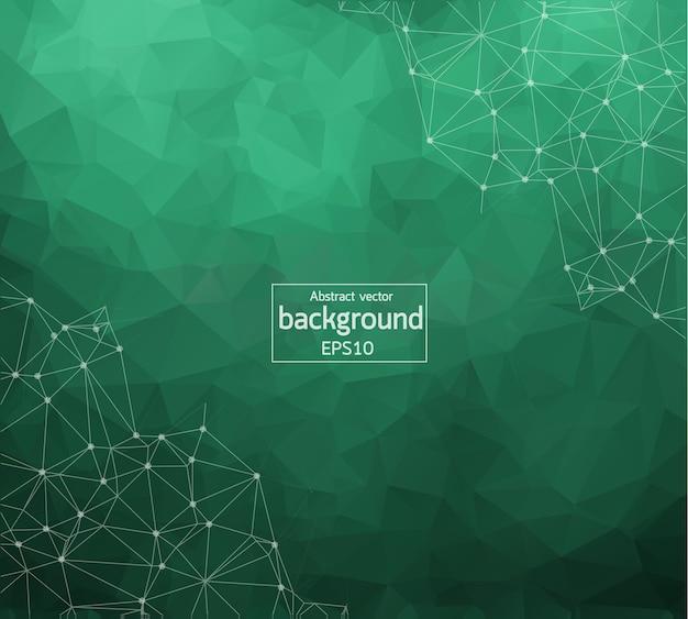 Geometric dark green polygonal background