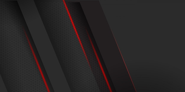 Geometric dark material with red stripes background