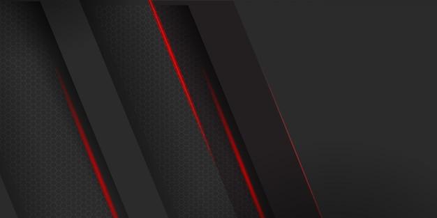 赤い縞模様の背景を持つ幾何学的な暗い素材
