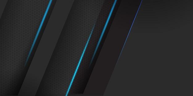 ストライプの背景を持つ幾何学的な暗い素材