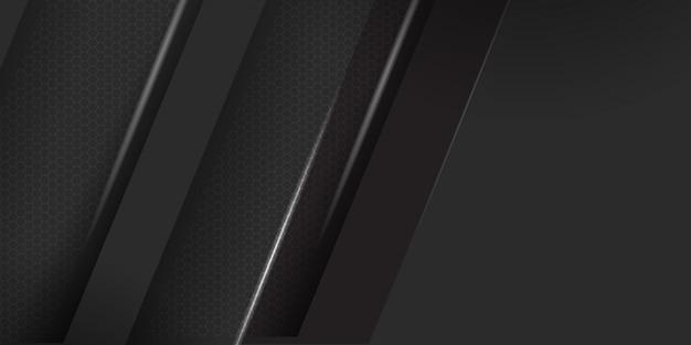 白のストライプの背景を持つ幾何学的な暗い素材