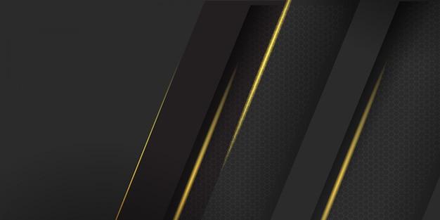 黄色のストライプの背景を持つ幾何学的な暗い素材