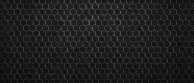 Geometric dark ornament hexagons background. tracery polygonal gradientl tiles laid in abstract