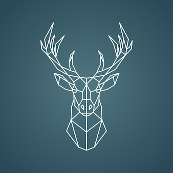 Geometric deer portrait.
