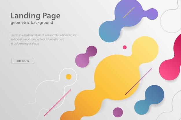 기하학적 디자인 배경 현대 템플릿 방문 페이지, 배너 및 미래 포스터