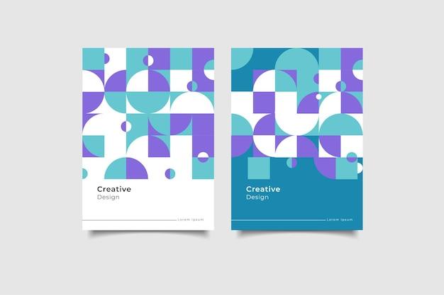 Геометрический дизайн обложки коллекции