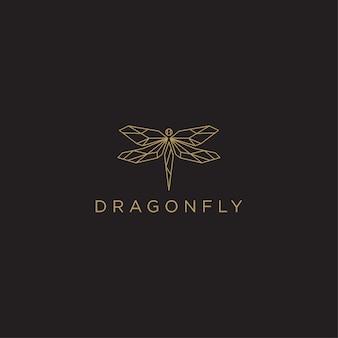 Geometric dragonfly logo