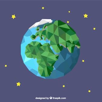 Geometric earth globe