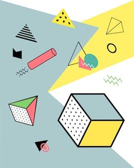 メンフィススタイルの幾何学的要素、カラフルな幾何学的カオス