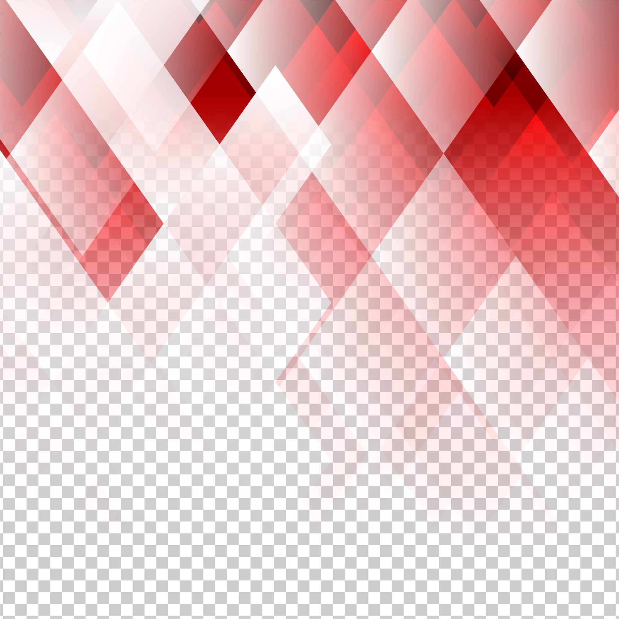 Geometric elements red color abstract vector